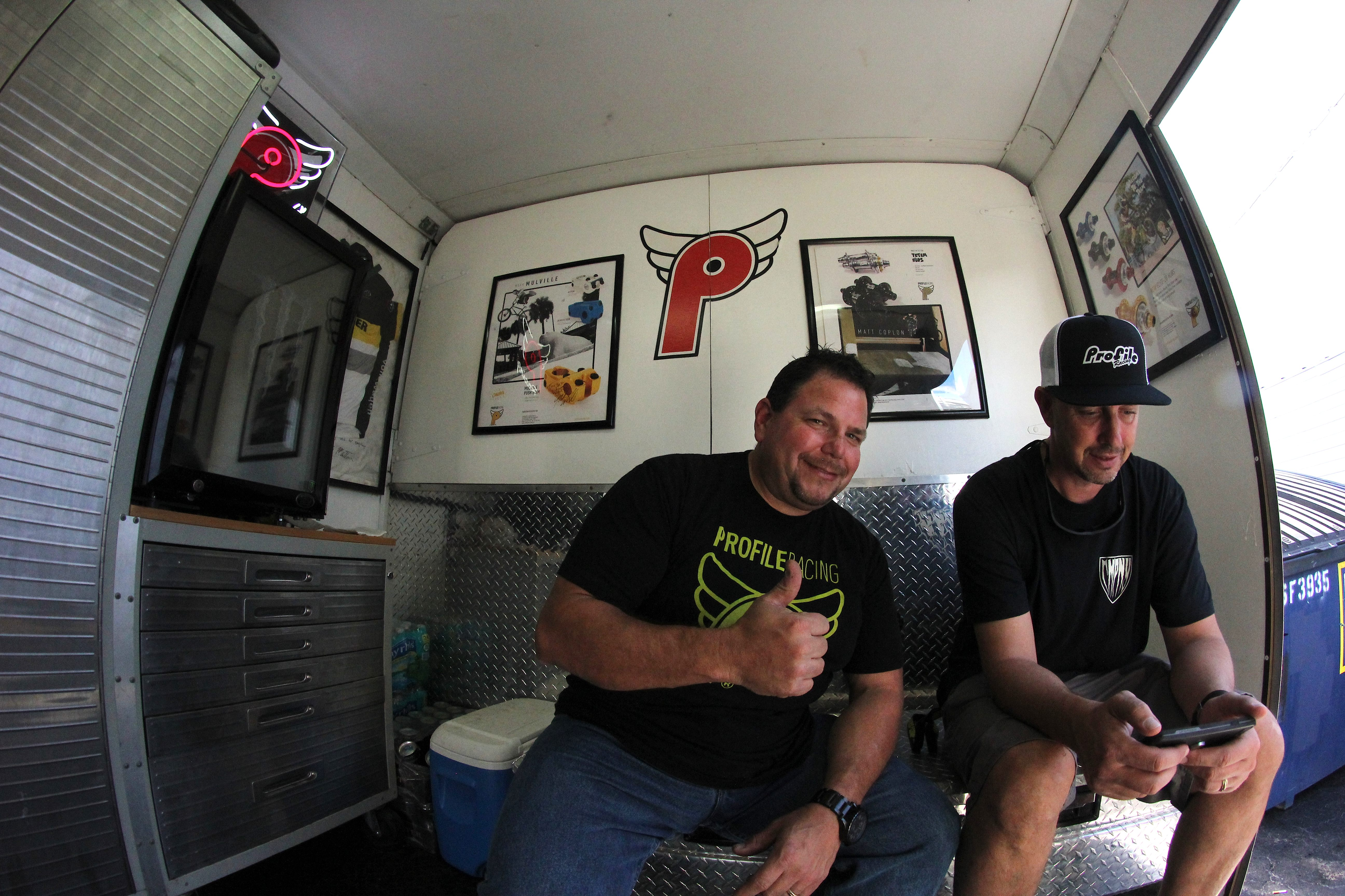 Gus Lanzilotta. One of Florida's favorites repping Profile Racing. On site mechanic fixing ANY bike that rolls through those trailer doors. Thanks for the support Gus.