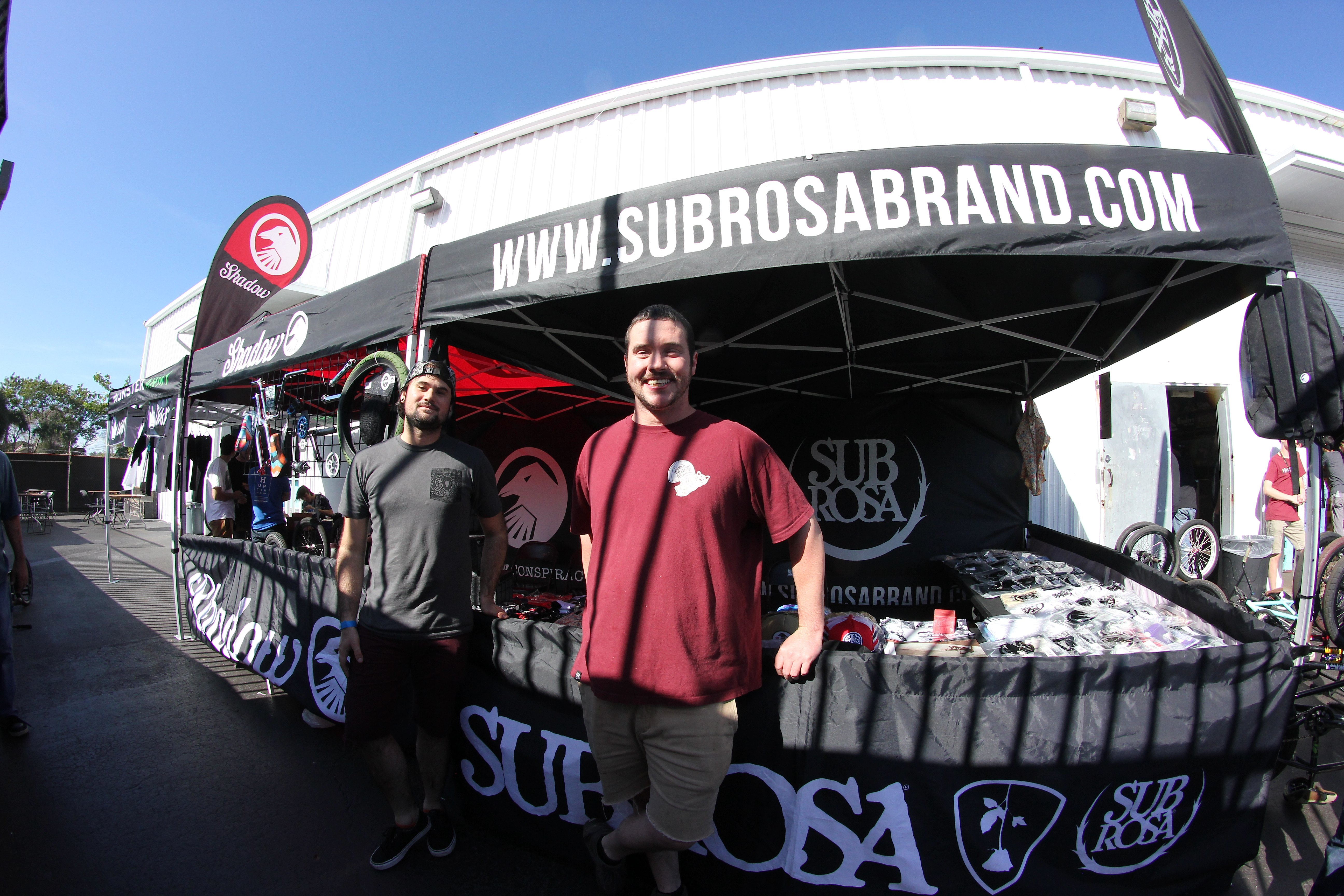 Josh and Cole from Sparky's USA. Always on hand, lending a hand. Thanks to Shadow and Subrosa for the support.