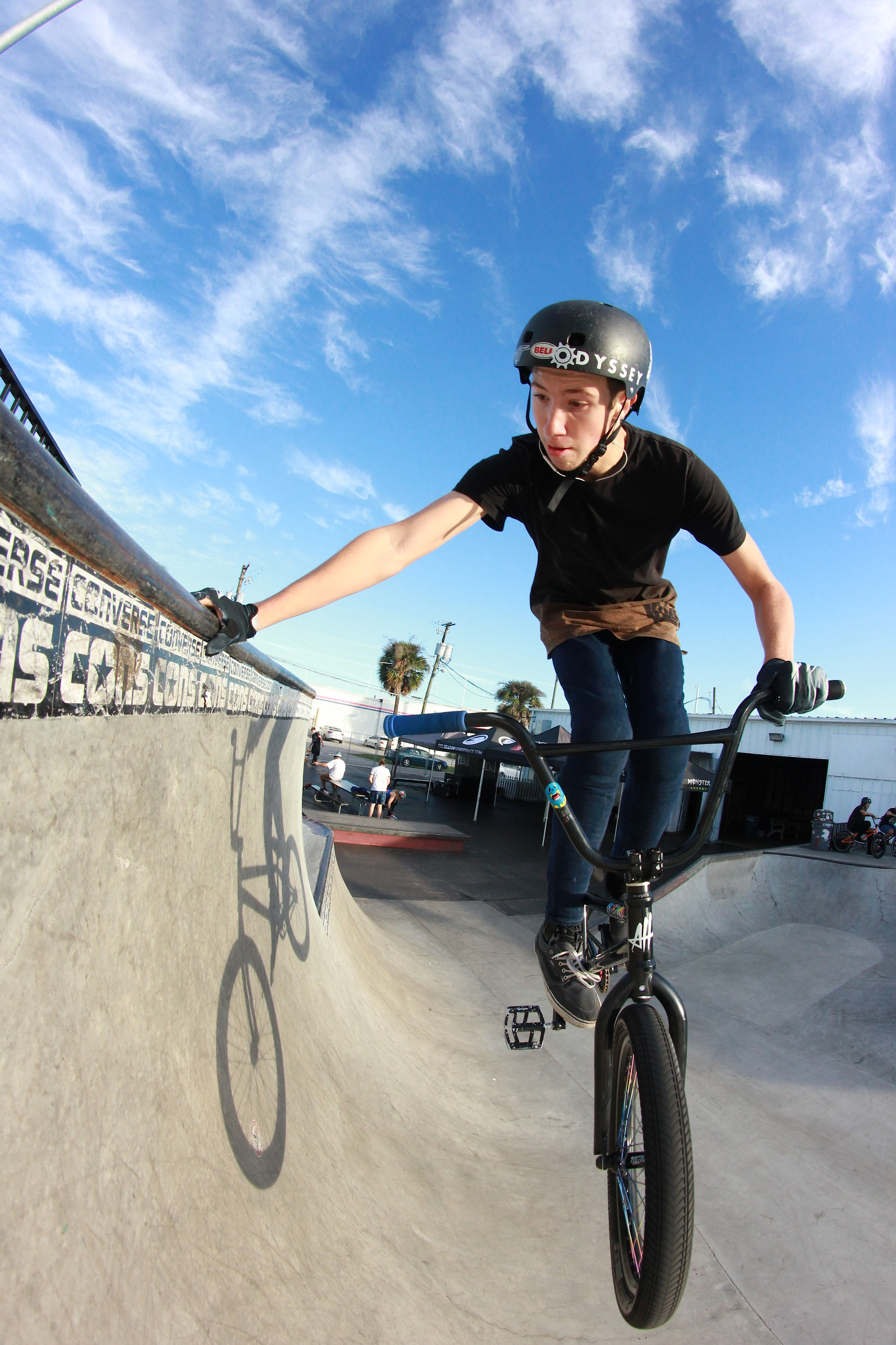 Zach May: Handplant during the magic hour.